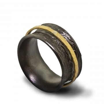 Silver & Gold Band
