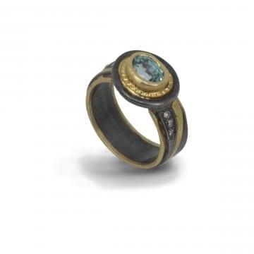 Pathways Blue Zircon Ring