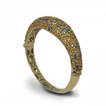 Citrine & Blue Topaz Bracelet