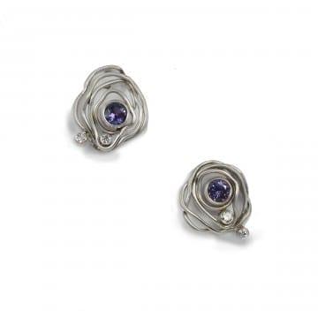 Plum Sapphire Earrings