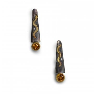 Pathways Citrine and Diamond Earrings