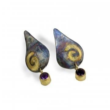 Pathways Amethyst Earrings