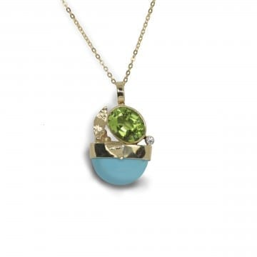 Peridot & Turquoise Pendant