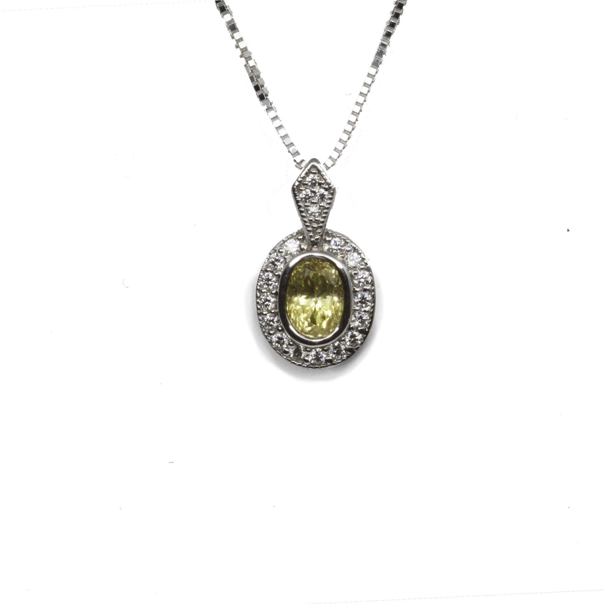 diamond yellow pave products with all sapphire gold pendant around in