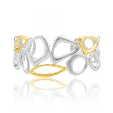 Gold & Sterling Silver Cuff