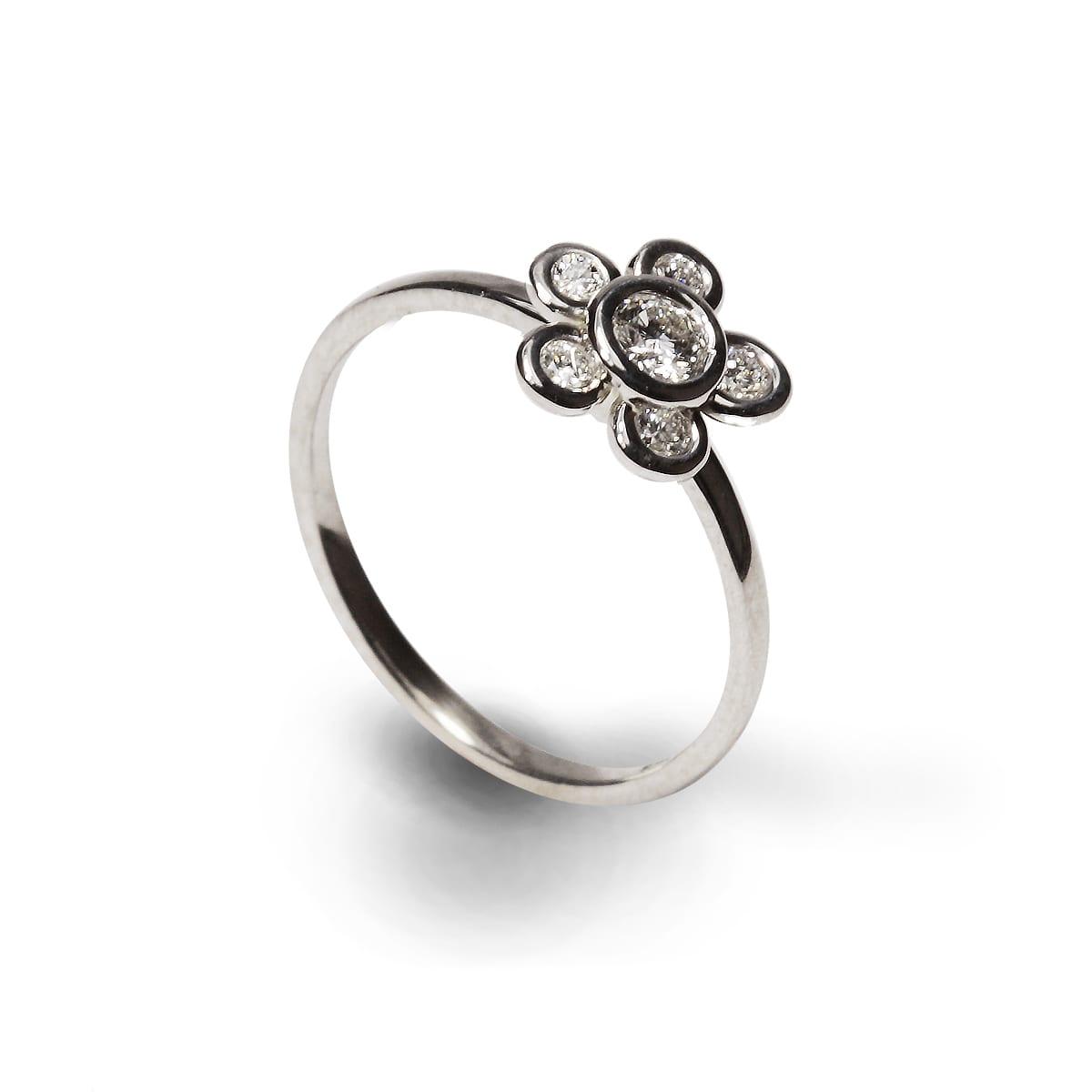 Richters jewelry design studio londonderry new hampshire diamond flower ring mightylinksfo